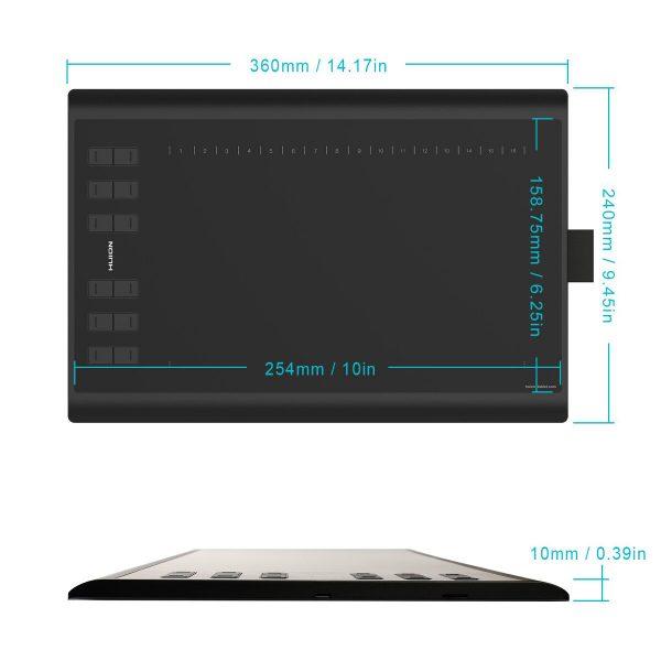 New 1060plus - dimensions