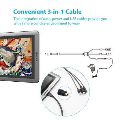 GT-156HD V2 3-v-1 kabel