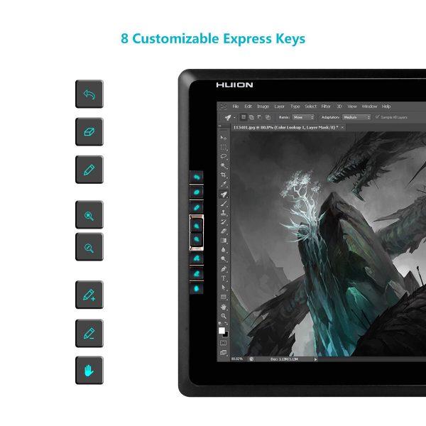 GT-185 Pen Display - express keys