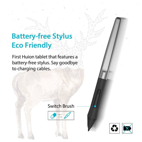 H640P - battery free pen stylus