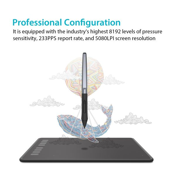 H950P - 8192 pen pressure levels