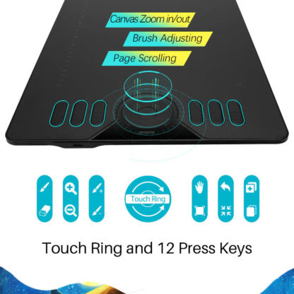 HS610 touch ring and 12 keys