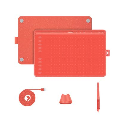 HS611 Coral Red Pen tablet
