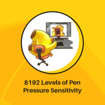 HS64 SE 8192 Pen Pressure Levels Sensitivity