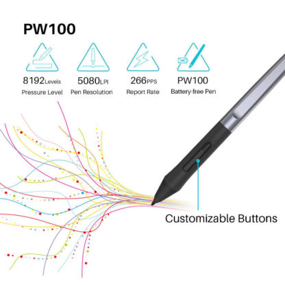 HS64 battery-free stylus PW100