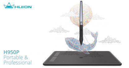 HUION H950P Pen Tablet - Portable and Professional