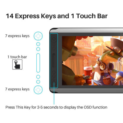 KAMVAS 16 Express keys and touch bar