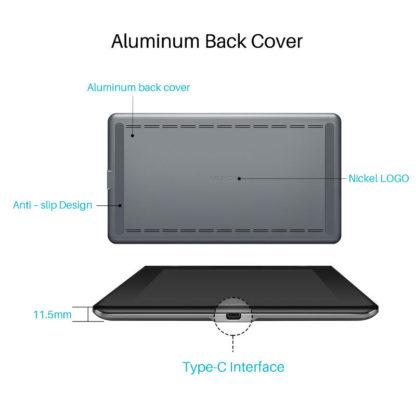 KAMVAS PRO 16 Aluminium back cover