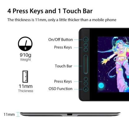 KAMVAS Pro 13 - 4 keys and touch bar