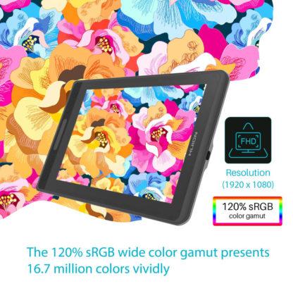 Kamvas Pro 12 - 120% sRGB color gamut
