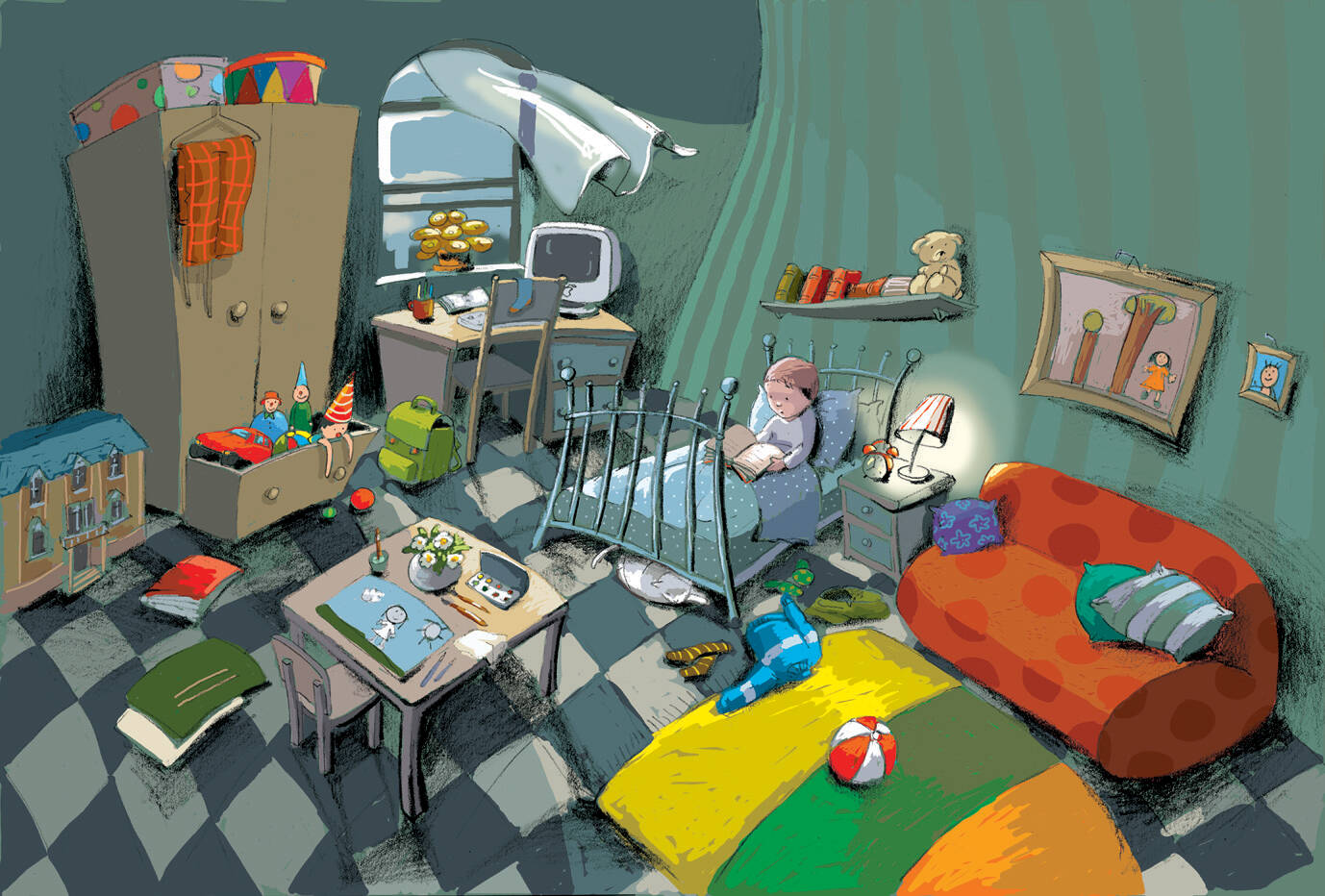 Room/ Soba, illustration Polona Lovšin