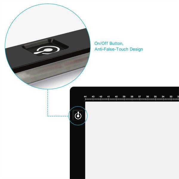 Huion LA3 Light Pad - control button